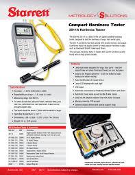 3811a compact hardness tester starrett pdf catalogue
