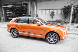 orange bentley dmc bentley bentayga