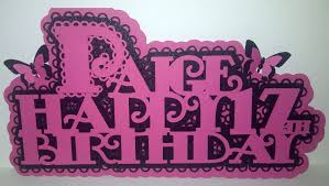 romadoll loves cardmaking daughter u0027s 17th birthday card