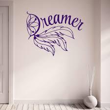 dreamer dream catcher teenagers bedroom living room vinyl wall dreamer dream catcher teenagers bedroom living room vinyl wall sticker decal