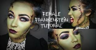 female frankenstein halloween tutorial youtube