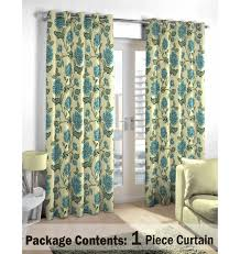 Green And Blue Curtains Light Blue Floral Curtain