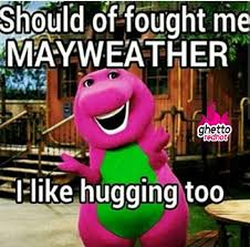 Fight Meme - mayweather hugs ghetto red hot