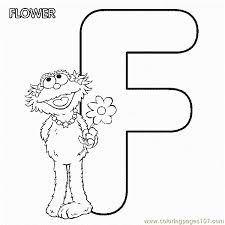 abc letter flower sesame street zoe coloring pages 7