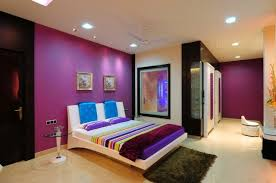 Purple Bedroom Accent Wall - beautiful purple bedroom color schemes accent wall and design