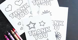 free printable thank you cards for kids to color u0026 send sunny