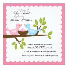 bird baby shower bird baby shower invitations announcements zazzle