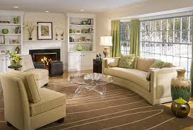 cheap decorating ideas for large wall in living room with green