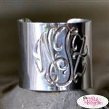 Monogrammed Silver Ring Handpicked Large Teardrop Fashion Silver Monogram Earrings