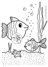 fish nature coloring page for kids printable free coloing 4kids com