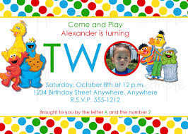 Personalized Birthday Invitation Cards Sesame Street Birthday Party Invitations Personalized Cimvitation