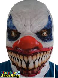 it clown halloween mask white hair clown halloween latex mask face fancy costume party