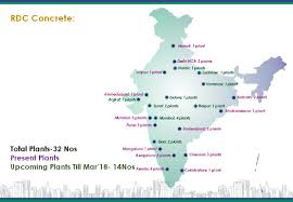 Hyderabad India Map by Rdc Concrete India Pvt Ltd Readymix Concrete Company India
