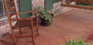 How To Clean Colored Concrete Patio Improving The Look Of A Concrete Porch Floor Today U0027s Homeowner