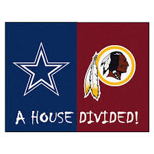 Dallas Cowboys Flags Amazon Com Fanmats Nfl House Divided Nylon Face House Divided Rug
