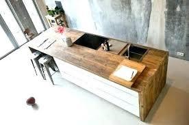 comment faire un bar de cuisine bar cuisine bois bar cuisine bois table cuisine bois brut plan de