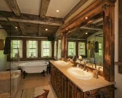 Western Bathroom Ideas Rustic Bathroom Ideas Reclaimed Timber Vanity Base In This