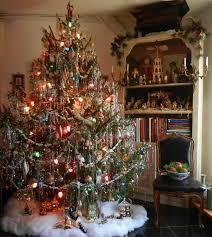 silver christmas tree with color wheel vintage christmas lights