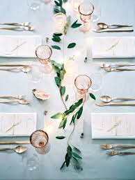 uber delicate greenery garland wedding tablescape tablescape