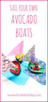 simple avocado boat craft for kids oh creative day