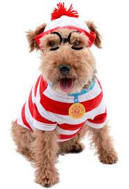 Spirit Halloween Pet Costumes U0027s Waldo Woof Pet Costume Costume Includes Character