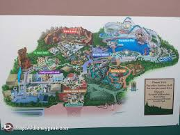 map of california adventure a disney california adventure map showing what is closed for