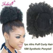drawstring ponytail clip in afro puff curly ponytail synthetic fiber wig