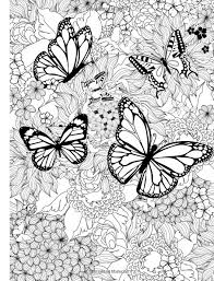 get this free printable butterfly coloring pages for adults 89371