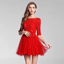 mini wedding dress red gauze skirt u0026 lace tops 1 chinese