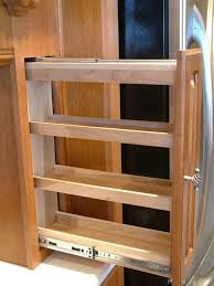 Kitchen Cabinet On Wheels Sliding Spice Rack Plans Fascinating Kitchen Cabinet Pull Out