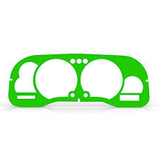 2000 dodge ram dash bezel buy green fluorescent cluster dash bezel trim fits 1998