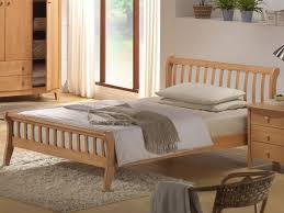 4ft Wooden Bed Frame Joseph Leo Bed Small Maple Wooden Frame