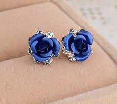 beautiful ear rings beautiful blue stud earrings thin blue line shop