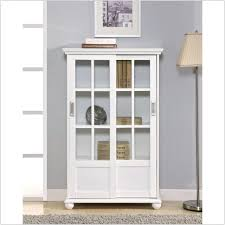 Cool Bookcase Ideas Decorations Rectangle White Wooden Bookshelf With Sliding Glass