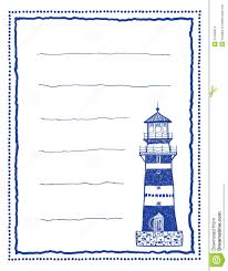 writing template paper writing paper or letter paper with lighthouse stock images image royalty free stock photo