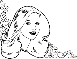 beautiful woman coloring page free printable coloring pages