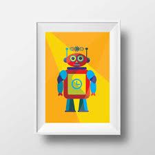 poster chambre b affiche rétro poster vintage enfant jaune