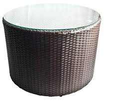 round rattan side table rattan side table glass top bucketforks info