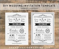 diy wedding invitation template diy wedding invitation template digiclick co