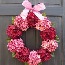 red u0026 pink hydrangea wreath for valentines day