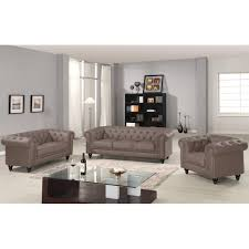 canap chesterfield 3 places canapé chesterfield taupe capitonné en simili cuir 3 places
