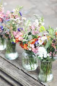 Rustic Vases For Weddings 47 Beautiful And Natural Wildflower Wedding Ideas Weddingomania