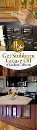 cabinet how to get grease off wooden kitchen cabinets best way to