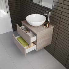 Bathroom Storage Vanity by Modern Oak Wall Hung Bathroom Storage Vanity Unit Countertop Basin