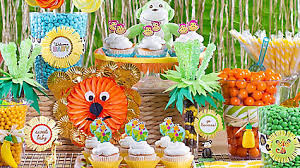 Candy For A Candy Buffet by Jungle Theme Baby Shower Treats Table Idea Party City