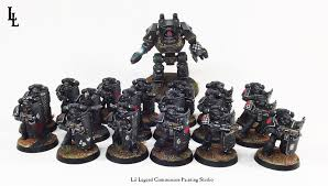 why are those dark angels breachers painted black spikey bits