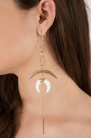 drop earrings elephante gold moon shape drop earrings 7 tobi us