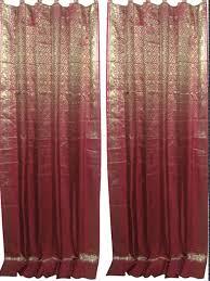 Sari Curtain Indian Sari Curtains Drapes Panels Window Treatment Youtube