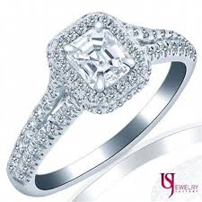 white gold halo engagement rings 1 13 tcw asscher cut halo engagement ring 18k white gold