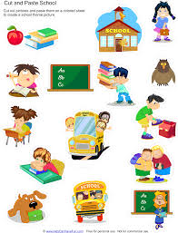 cut and paste printables educational worksheets